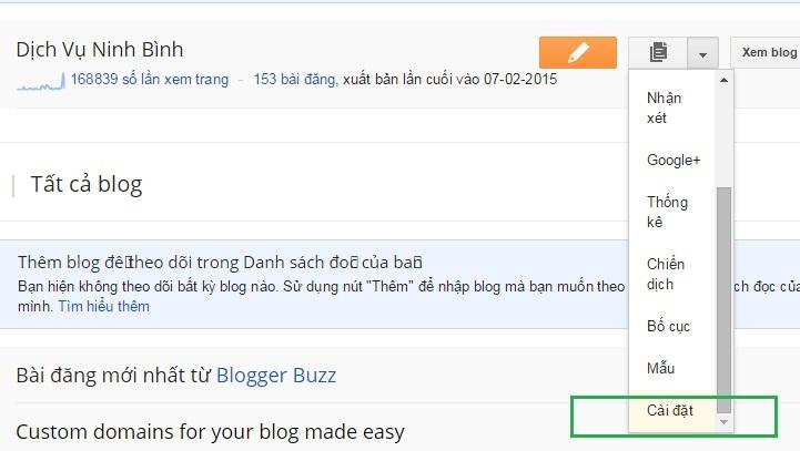 Hưỡng dẫn cách xóa Blogger và khôi phục