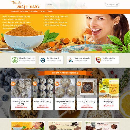 Web thực phẩm đơn giản