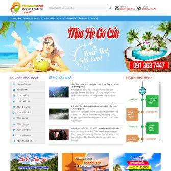 web đặt tour du lịch