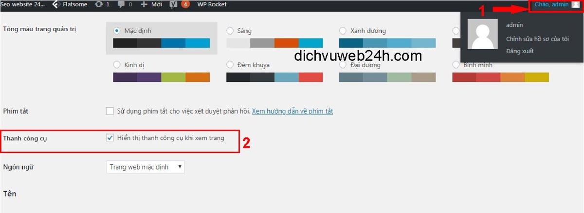 Cách vô hiệu hóa Thanh công cụ quản trị người dùng WordPress